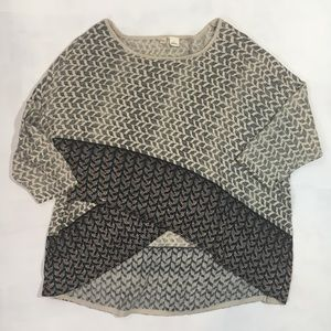 Moth Anthropologie beaded chevron knit top- Small